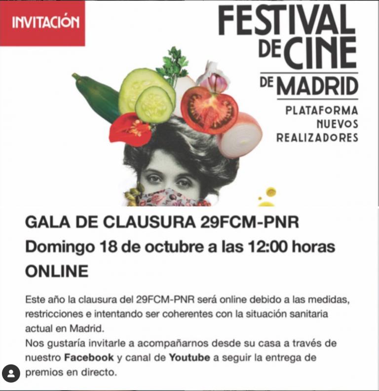Espacio Crea Cine patrocina el Premio Mejor Guion de cortometraje en el FCM-PNR